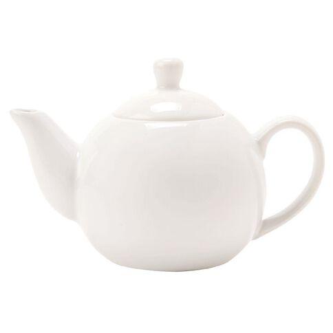 Necessities Brand Teapot White 570ml