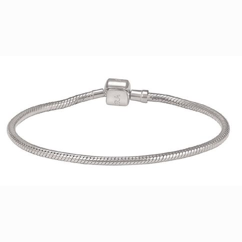 Ane Si Dora Sterling Silver Snake Clasp Bracelet 21cm