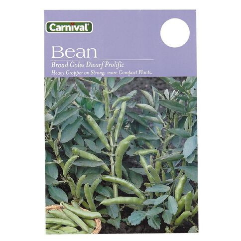 Carnival Seeds Broad Beans Coles Dwarf Prolific