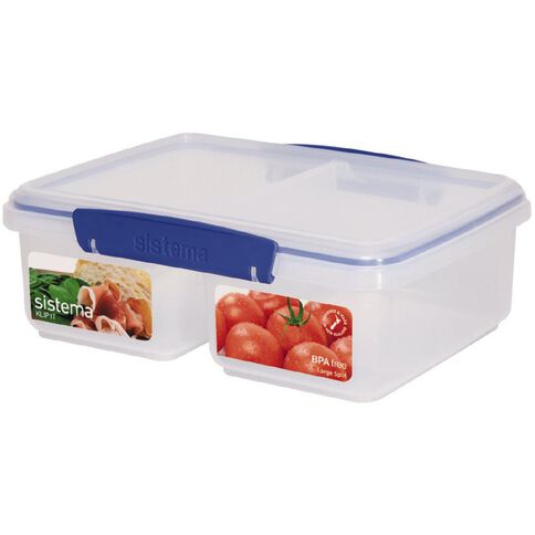 Sistema Klip It Blue Split Container 2L