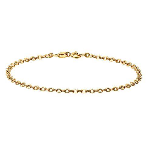 9ct Gold Round Cable Bracelet 19cm