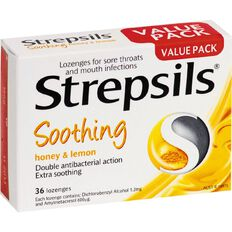 Strepsils Lozenges Honey Lemon 36s
