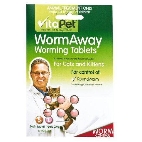 Vitapet Wormaway Cat 6 Pack