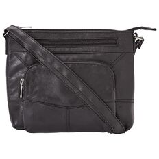 Debut Patched Leather Mid Crossbody Bag