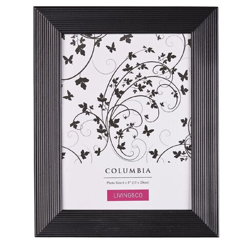 Living & Co Frame Columbia Black 6in x 8in