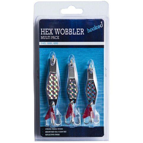 Hooked Hex Wobbler Multi Pack 24 32 42g