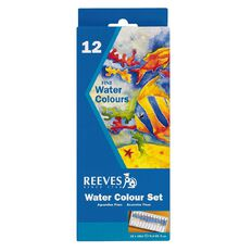 Reeves Water Colour Paint Set 12ml 12 Pack