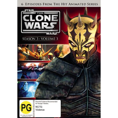 Star Wars Clone Wars Season 3 V3 DVD 1Disc
