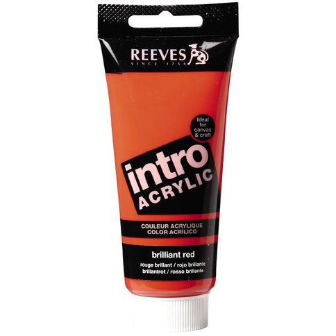 Reeves Intro Acrylic Brilliant Red 100ml