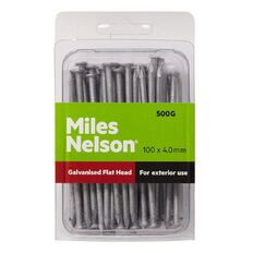 Miles Nelson Galvanised Flat Head Nails 100mm x 4.00mm
