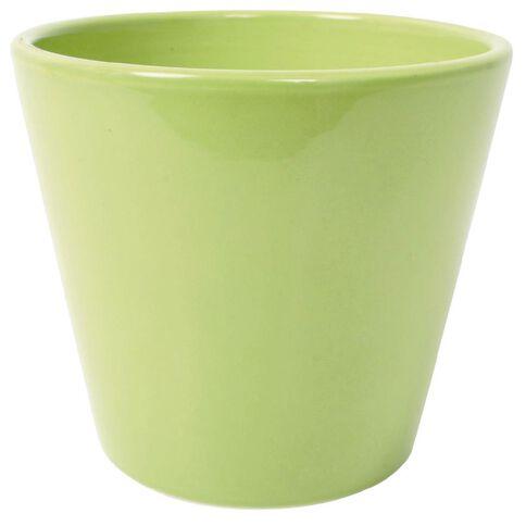 Ceramic Houseplant Pot Green 15cm