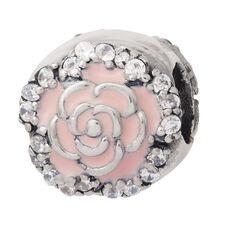 Ane Si Dora Sterling Silver Enamel Pink Flower Charm