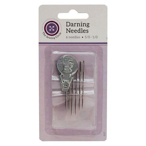 The Sewing Circle Short Darning Needles 6 Pack