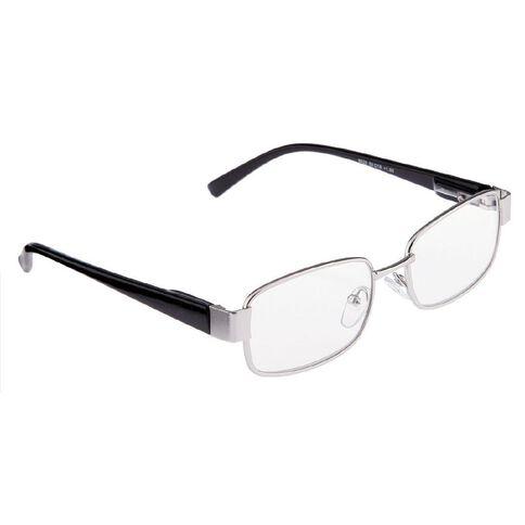 Focus Reading Glasses Men's Square Metal Power 1.00