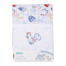 Rocco And Tolly Barnyard Buds Sheet Set 2 Pack