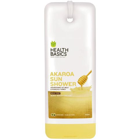 Health Basics Body Wash Milk and Honey Akaroa Sunshower 400ml