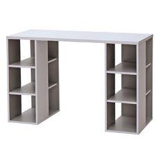 Solano Office Storage Desk White & Grey