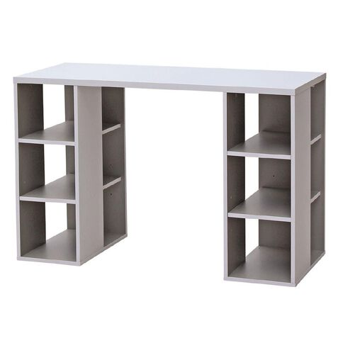 Solano Office Storage Desk White & Grey