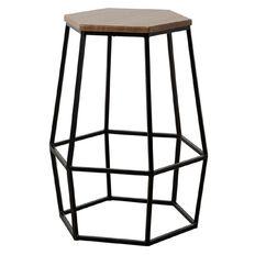 Living & Co Hexagon Stool Black