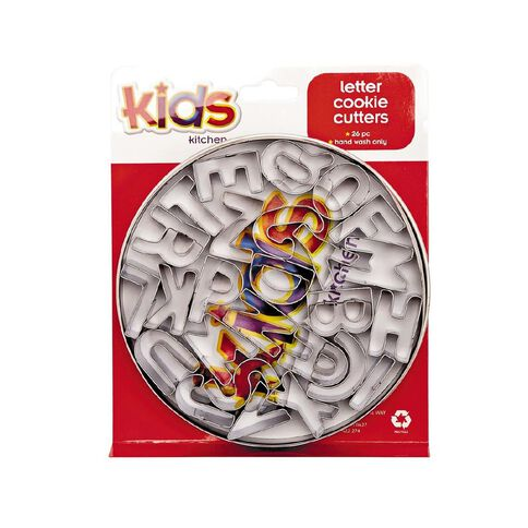 Kids Kitchen Letter Cookie Cutters