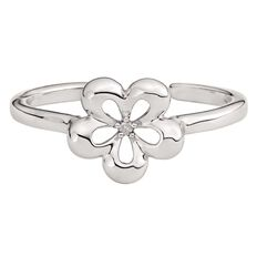 KIDZ Sterling Silver First Diamond Flower Ring