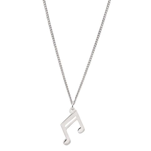 Pia Notes Sterling Silver Double Note Pendant