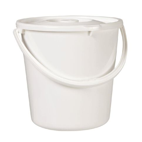Taurus Nappy Bucket White 20L