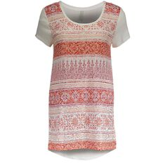 Maya Printed Burnout Top