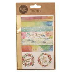 Craftwise Watercolour Stickers 6 Sheets