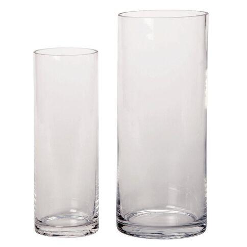 Living & Co Column Vase Clear 9cm x 25cm