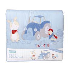 Rocco And Tolly Barnyard Buds Quilt & Bumper Set