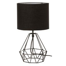 Living & Co Geo Wire Table Lamp Black 35cm