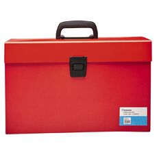 Deskwise Portable File Red 17 Pocket