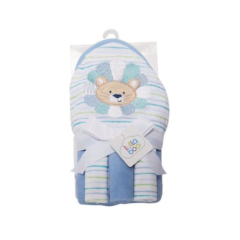 Lullaboo Novelty Towel and Facewasher Set Blue