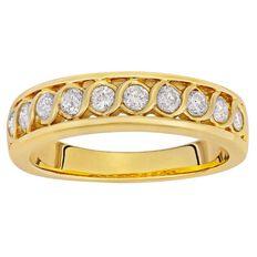 1/2 Carat of Diamonds 9ct Gold Diamond Fancy Channel Ring