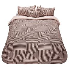 Living & Co Comforter Set Dusky Stripe Geo
