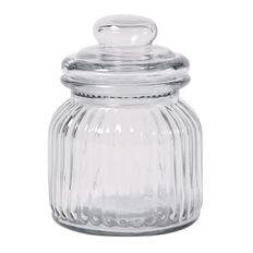 Living & Co Ridge Glass Jar 600ml