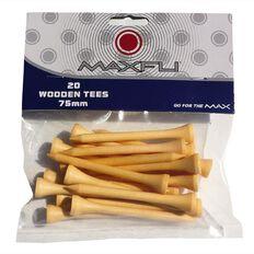Maxfli 75mm Wood Tees 20 Pack