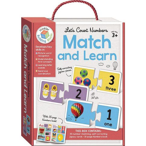 Building Blocks Match and Learn Cards Numbers