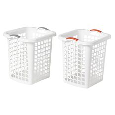 Taurus Laundry Hamper White 60L