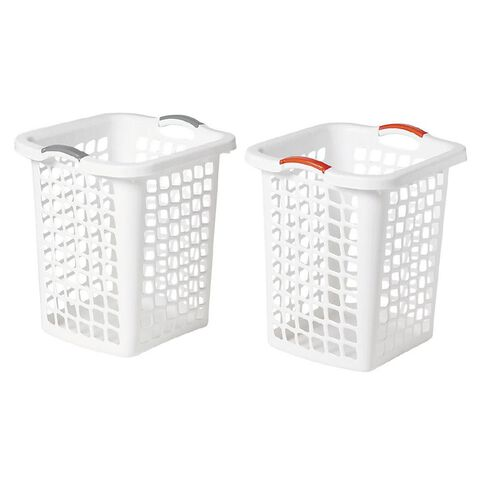 Taurus Hamper White 60L Assorted Handles