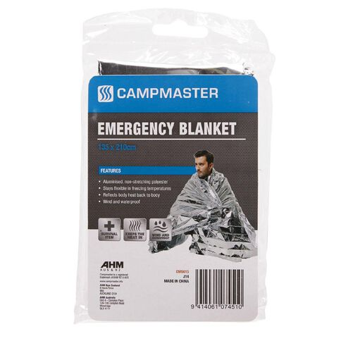 Campmaster Accessories Emergency Blanket 135cm x 210cm