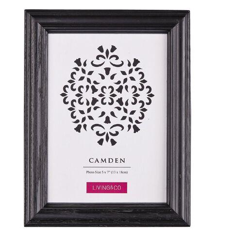 Living & Co Frame Camden Black 5in x 7in