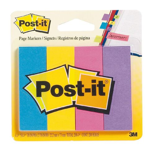 Post-It Page Marker Large 671-4AU 4 Pack