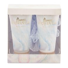 Always & Forever Bath Trio Set Body Wash 50ml + Body Lotion 50ml +Sponge