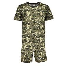H&H Men's Short Sleeve Short Leg Knit Pyjamas