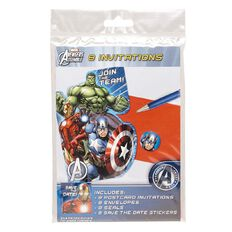 Avengers Marvel Invitations 8 Pack