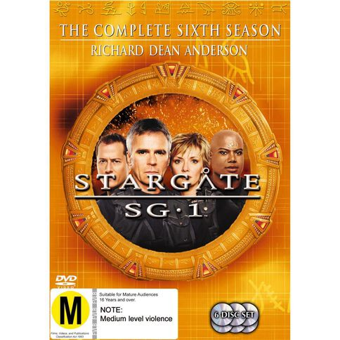Stargate SG1 Season 6 DVD 6Disc