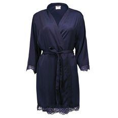 H&H Women's Lace Satin Robe