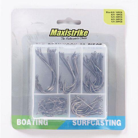 Maxistrike Fishing Hooks Black Beak 80 Piece